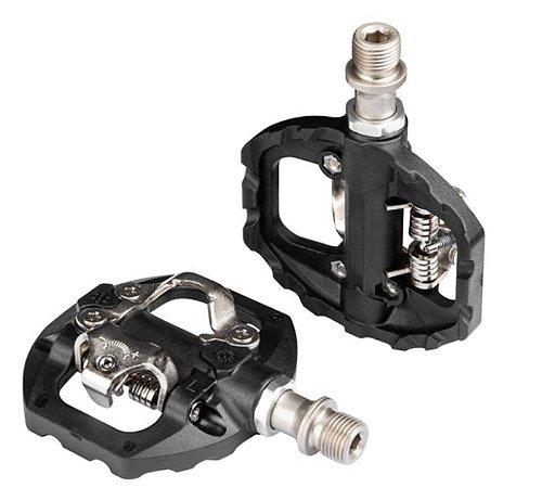 Pedal Híbrido Duplo Plataforma / Clip com Tacos p/ MTB Ref.108