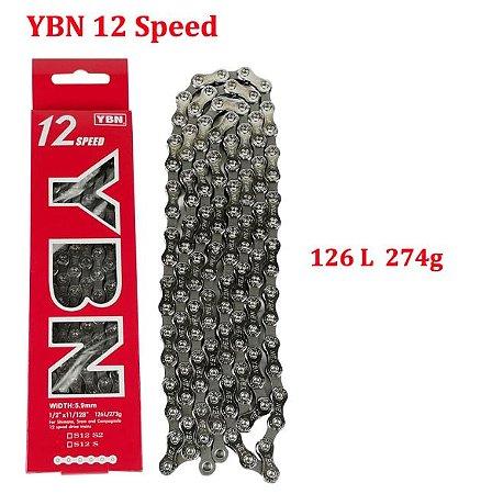 Corrente 12 velocidades Ybn 112 elos p/ Triathlon Speed Ref.109