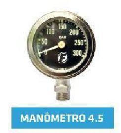 """Manômetro FunDive robusto 4.5"""" sem mangueira - Preto"""