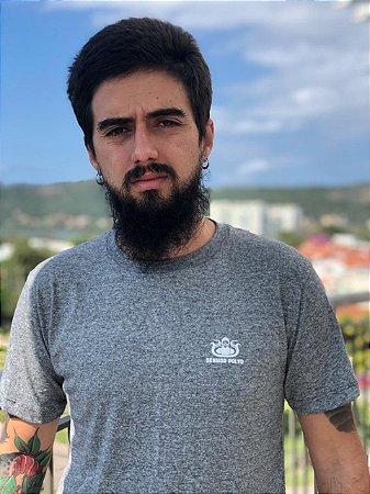 Camisa de Malha Senhor Polvo - DNA Mescla Cinza Claro