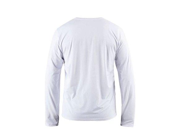 Camiseta Manga Longa Dry Action Masc Mormaii Branco