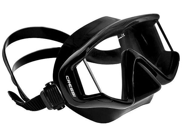 Máscara de Mergulho Cressi Pano 3 - Silicone Preto