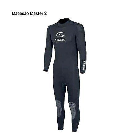 Roupa de Neoprene SeaSub  Master 2 Masculino 3mm Preto