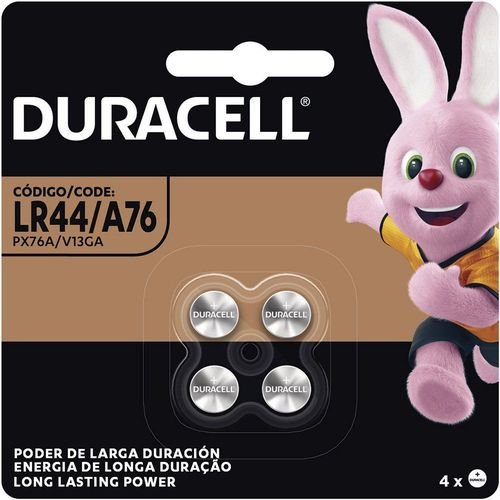 Pilha duracell alcalina LR44 4un