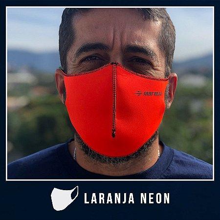 Máscara de Proteção Facial  em Neoprene - Laranja Neon