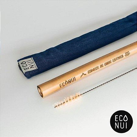 Kit Canudo Bambu Rústico