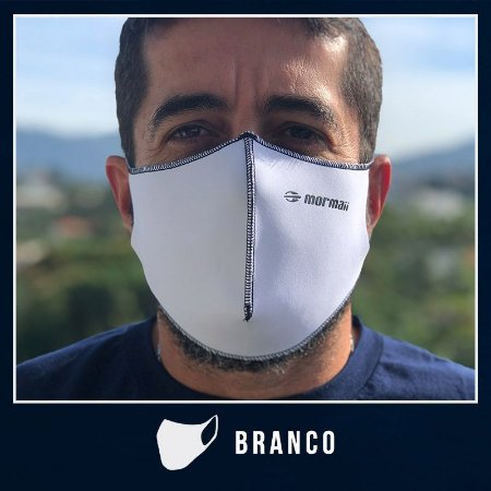 Máscara de Proteção Facial  em Neoprene - Branco