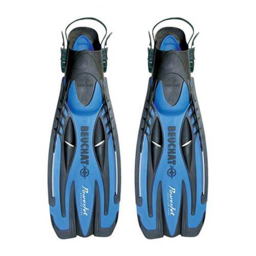 Nadadeira de Mergulho Beuchat PowerJet - ( Preto/Azul )