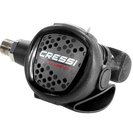 Regulador MC9 Compact Cressi Yoke - 1o E 2o estágio - Cinza