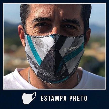 Máscara de Proteção Facial  em Neoprene - Estampa Preto