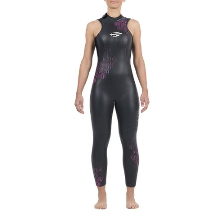 Long J Mormaii S/manga Backzip 3,2 mm Tria Fem Preto/Roxo