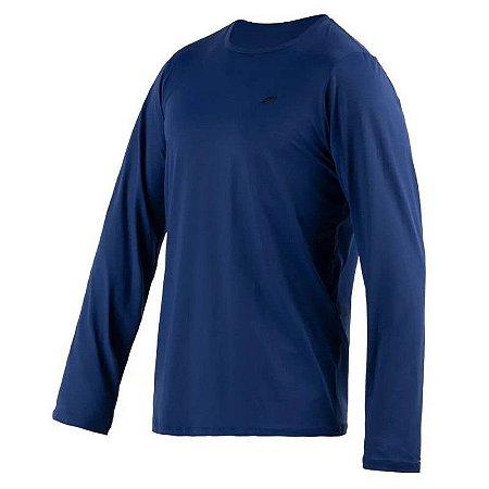 Camiseta Manga Longa Dry Action Masc Mormaii Azul Marinho