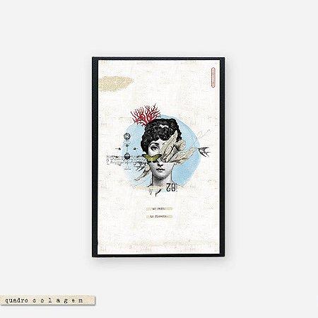 Quadro Colagem Bloco - No Rain. No Flowers #2
