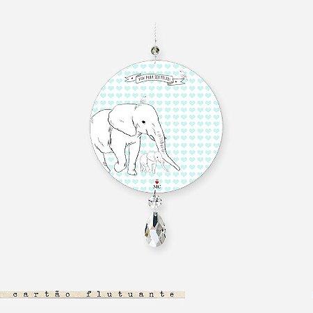 Cartão Flutuante - Elefante