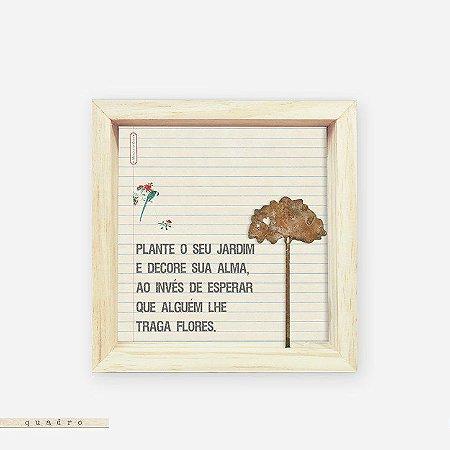 Quadro Caixa Pinus - Plante O Seu Jardim