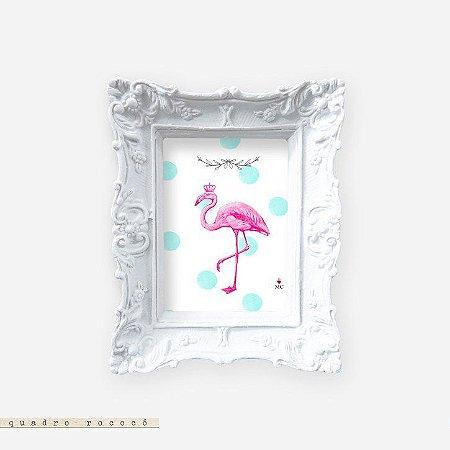 Quadro Rococó - Flamingo