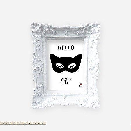 Quadro Rococó - Hello Cat