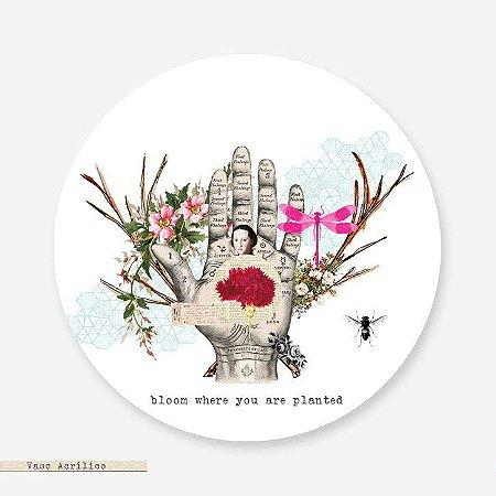 Vaso - Redondo Acrílico Bloom Where You Are Planted