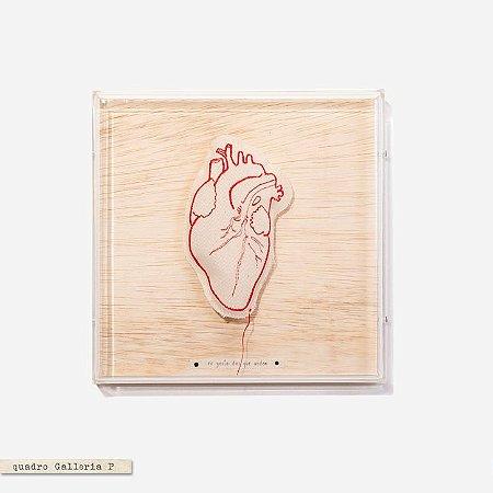 Quadro Galleria - Coração Bordado