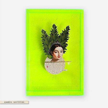 Quadro Caixa Acrilico Verde M - Caroline