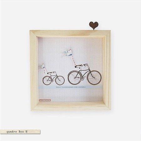 Quadro Caixa Colagem M - Bicicleta Nada é tão contagioso