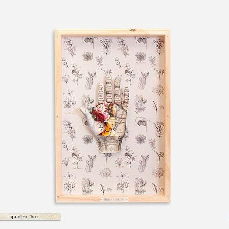 Quadro Box Colagem - Mão Many Stories