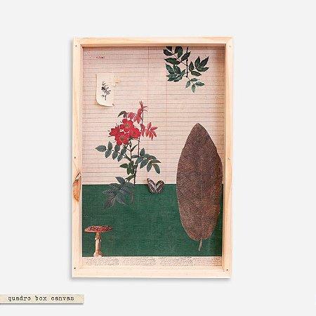 Quadro Box Canvas Botânica