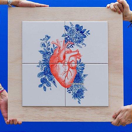 Quadro Azuleicha Coração - Eu gosto dos que ardem