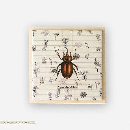 Quadro Azuleicha Botânica - Escaravelho
