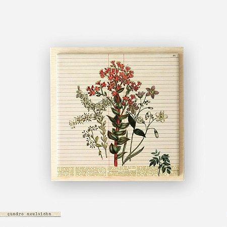 Quadro Azuleicha Botânica - Bouquet