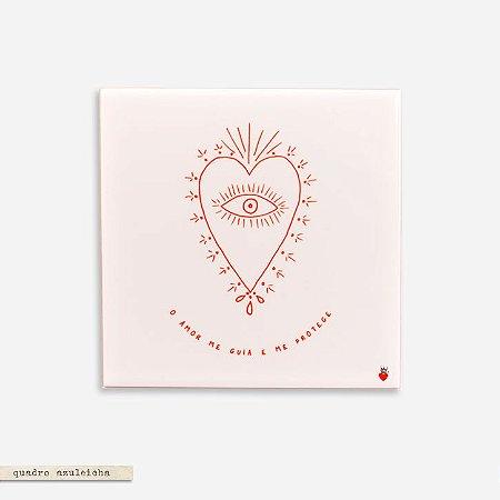 Quadro Azuleicha Avulso - Coração