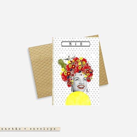 Cartão Envelope - Carmen Miranda