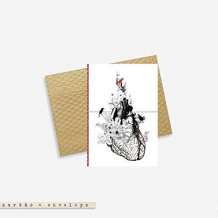 Cartão Envelope - Coração anatomico
