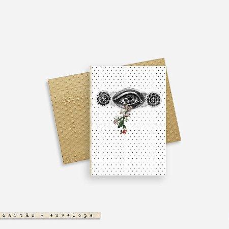 Cartão Envelope - Olho