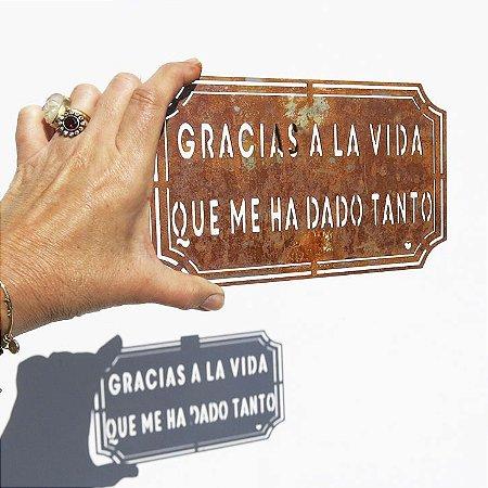 Placa Etiqueta de ferro - Gracias a la vida que me ha dado tanto