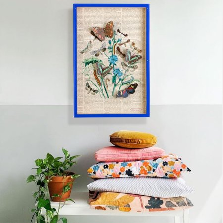 Quadro Box Colagem Farfalle Yves
