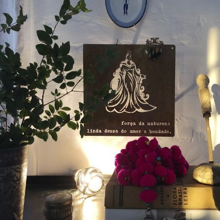 Quadro de Ferro Iemanjá - Força da natureza linda deusa do amor e bondade