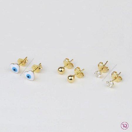 Basiquinhos: Olho Grego, Bolinha e Estrela Cristal