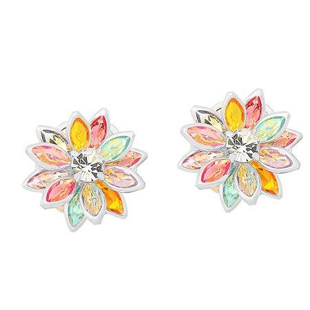 Brinco Flor de Cristal - Cores Vivas