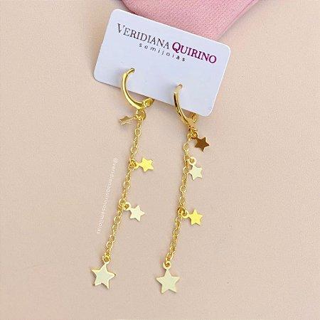 Mini Argola Estrelas