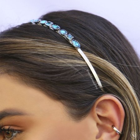 Tiara de Cristais London Blue