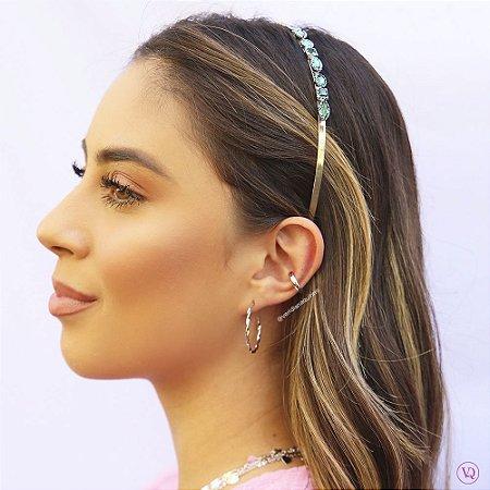 Tiara de Cristais Esmeralda