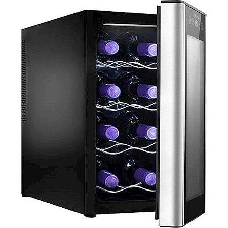 Adega de Vinhos Electrolux para 8 Garrafas Acabamento em Alumínio Escovado 127 Volts Preta [ACS08]