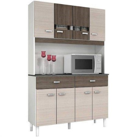 Armário de Cozinha 8 Portas 2 Gavetas Poquema [A61703001]