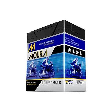 Bateria para Moto Moura 06 Amperes Honda/Yamaha/Sundown/Susuku/Kawasaki/Kasinski/Dafra [MA6D]