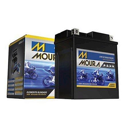 Bateria Para Motocicleta Moura 5 Amperes Preta 12 Volts [MA5D]