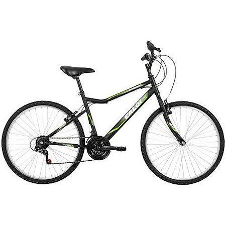 Bicicleta Caloi Twister Aro 26 com Freio V-Brake e 21 Velocidades na Cor Preta