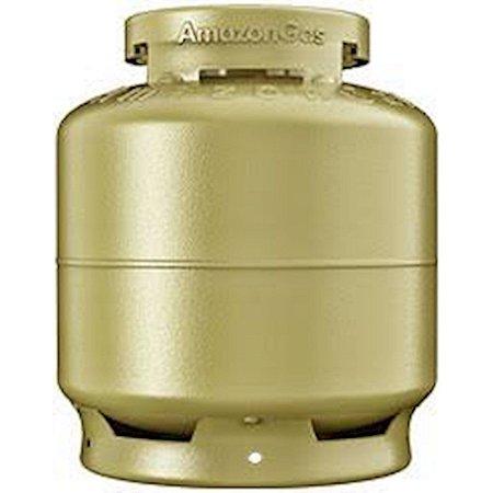 Botija de Gás para Cozinha Casco Vazio Dourado [P13]