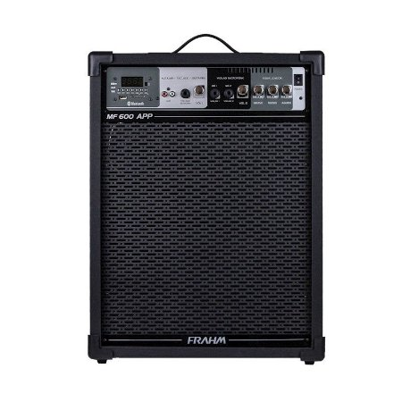 Caixa Amplificada 100W Frahm USB FM Bluetooth Cartão Memória Preta Bivolt [MF600]