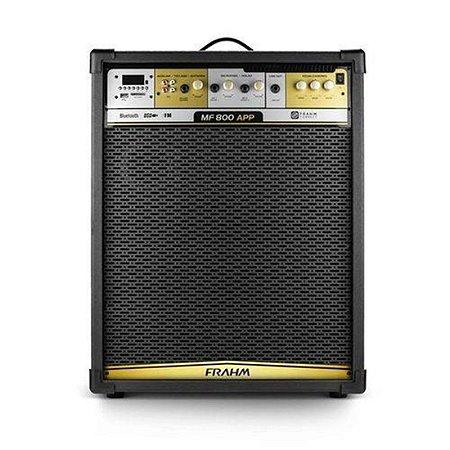 Caixa Amplificada Frahm Mf800 - Usb - Bt - Controle Remoto